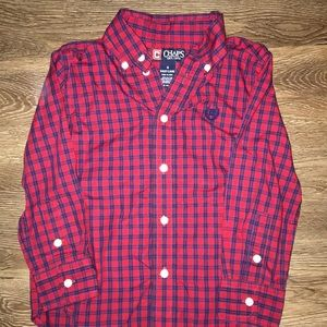 Like New-Chaps boys button up shirt